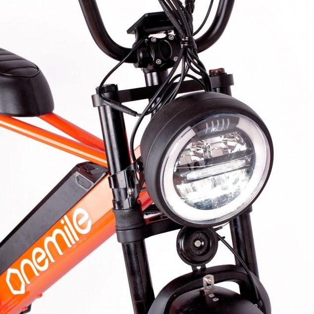 Speedbike ONEMILE Scrambler S Orange avec éclairage avant et arrière