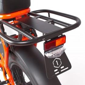 Speedbike ONEMILE Scrambler S Orange avec porte bagage et support de plaque