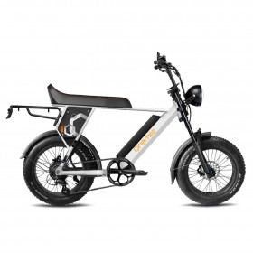 Speedbike ONEMILE Scrambler S Blanc avec Montage