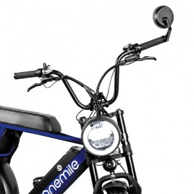 Speedbike ONEMILE Scrambler S Bleu avec Montage