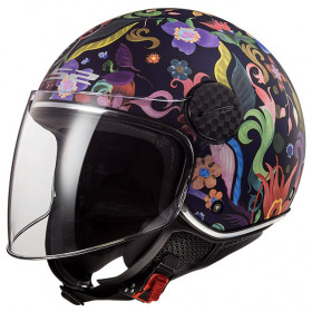 Casque LS2 SPHERE LUX OF558 - Bloom blue pink - L