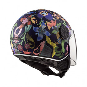 Casque LS2 SPHERE LUX OF558 - Bloom blue pink - S